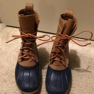 LL Bean Women Duck Boots Navy
